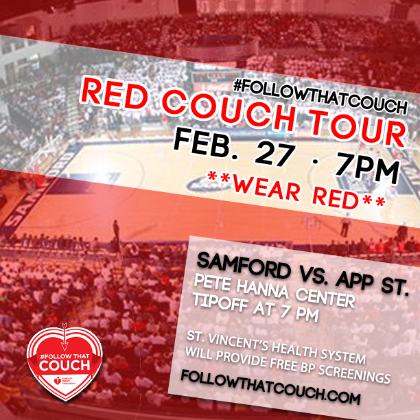 #FollowThatCouch this week at Alabama Power, Samford