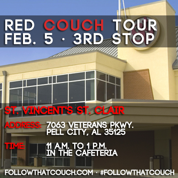 TODAY! #FollowThatCouch to Pell City...