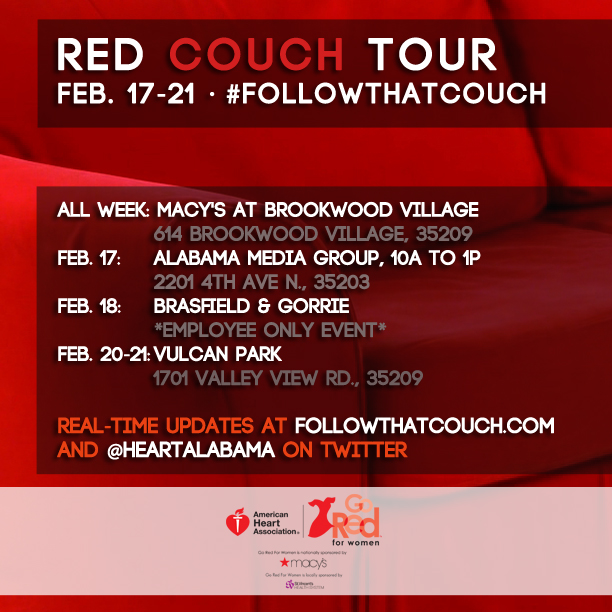 #FollowThatCouch Week No. 3 begins at Macy's, Alabama Media Group
